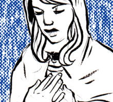our lady of sorrows Sticker