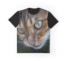 Beautiful Bengal Cat Observing Something Graphic T-Shirt