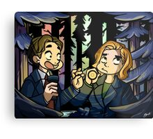 X-Files - Spooky Scary Scully  Metal Print