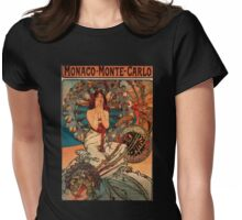 'Monaco' by Alphonse Mucha (Reproduction) Womens Fitted T-Shirt