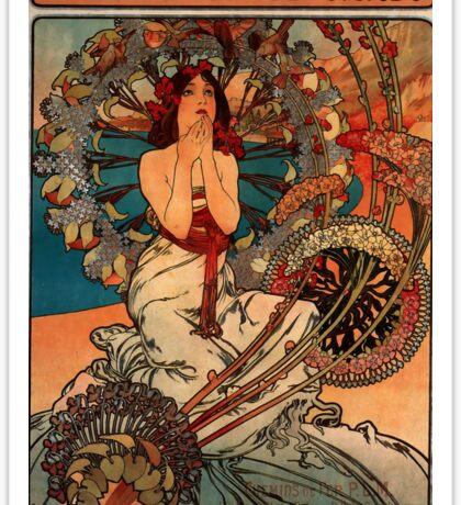 'Monaco' by Alphonse Mucha (Reproduction) Sticker