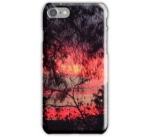 Sunset behind desolate trees 2 iPhone Case/Skin