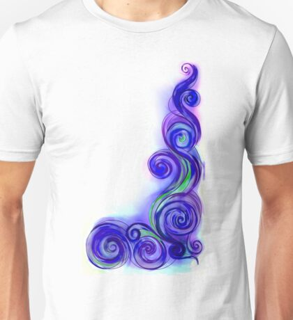 Violet Abstract Wave Unisex T-Shirt