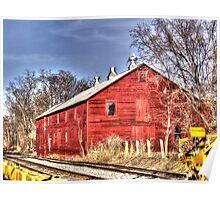 Barn Beside The Tracks Poster