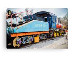 Georgia Train Engine Canvas Print