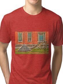 BOOOOOOM    Cannon in the Courtyard Tri-blend T-Shirt