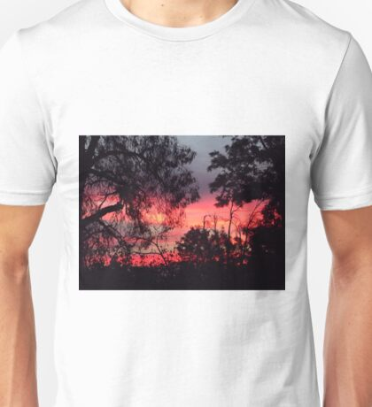 Sunset behind desolate trees 2 Unisex T-Shirt