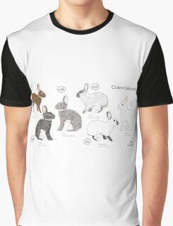 Rabbit Colour Genetics - Saturation Gene Graphic T-Shirt