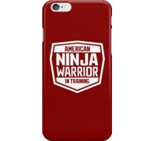 American Ninja Warrior - White iPhone Case/Skin