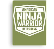 American Ninja Warrior - White Canvas Print