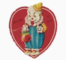 Vintage Valentine evil clown One Piece - Short Sleeve