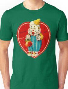 Vintage Valentine evil clown Unisex T-Shirt