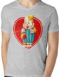 Vintage Valentine evil clown Mens V-Neck T-Shirt