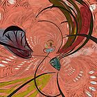 Flight of the Butterfly Abstract by Alma Lee Pyschedelic by Alma Lee