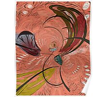 Flight of the Butterfly Abstract by Alma Lee Pyschedelic Poster