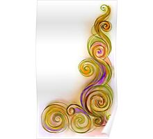 Yellow Abstract Wave Poster