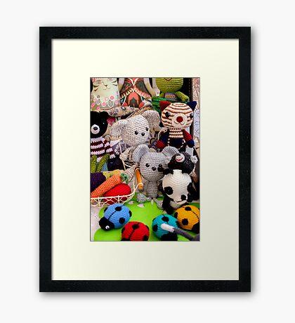 Knitted Toys Framed Print