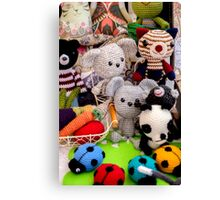 Knitted Toys Canvas Print
