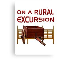 On A Rural Excursion Canvas Print