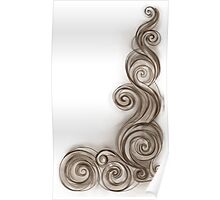 Sepia Abstract Wave Poster