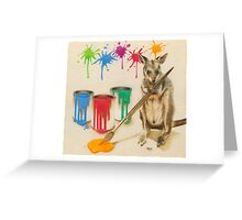 Adding a Splash of Colour Greeting Card