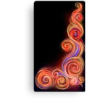 Red Neon Wave Canvas Print