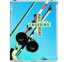 Railroad Crossing iPad Case/Skin