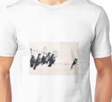 Banksy 'Migrants go home' graffiti art. Unisex T-Shirt