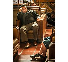 Bored Men at L.A. Union Station Photographic Print