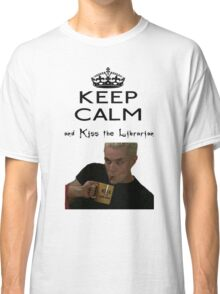 Buffy Spike Kiss the Librarian Classic T-Shirt
