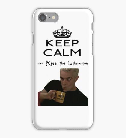 Buffy Spike Kiss the Librarian iPhone Case/Skin