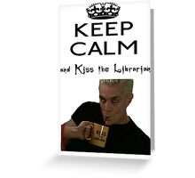 Buffy Spike Kiss the Librarian Greeting Card