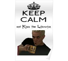 Buffy Spike Kiss the Librarian Poster