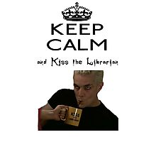 Buffy Spike Kiss the Librarian Photographic Print