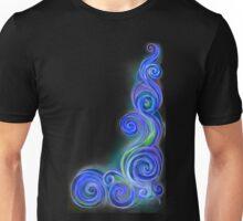 Blue Neon Wave Unisex T-Shirt
