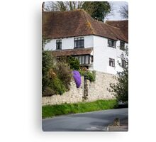Pretty Cottage on a Sunny Day Canvas Print