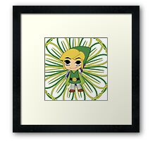 Link with Yellow and Green Lines Framed Print