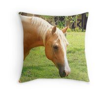 Palomino Horse Throw Pillow Throw Pillow