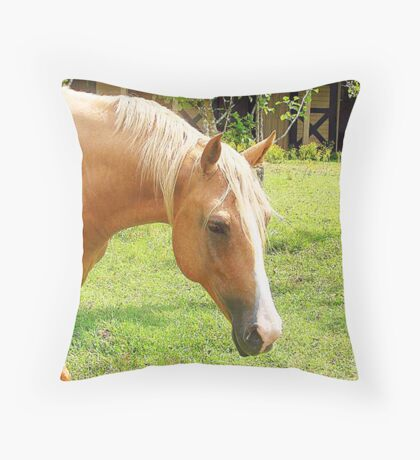 Palomino Horse Throw Pillow Throw Pillow