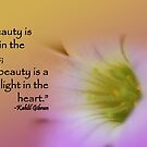 beauty is a light in the heart by lensbaby