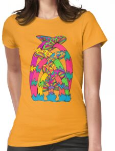 Pastel Mushroom Womens Fitted T-Shirt