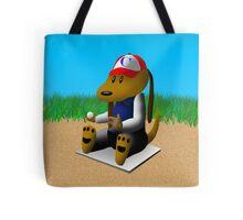 Baseball Dog Tote Bag