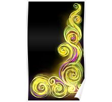 Yellow Neon Wave Poster
