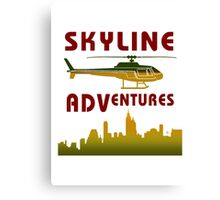 Skyline Helicopter Adventures Canvas Print