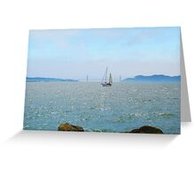 Sailing on the Bay Greeting Card