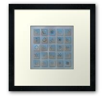 Snowflake collage - Season 2013 bright crystals Framed Print
