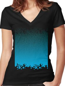 bubbling Women's Fitted V-Neck T-Shirt
