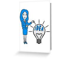 successful idea woman Greeting Card