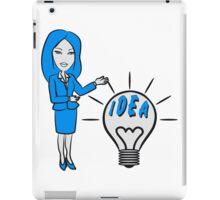 successful idea woman iPad Case/Skin
