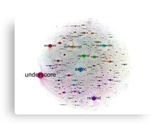 Network Graph of npm Packages Dependencies Canvas Print